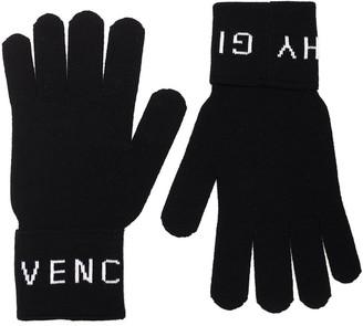 Givenchy Logo Intarsia Gloves