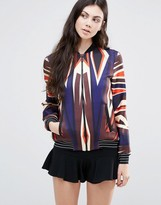 Clover Canyon Dynamic Sunset Bomber Jacket