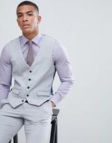 Burton Menswear suit vest in light gray