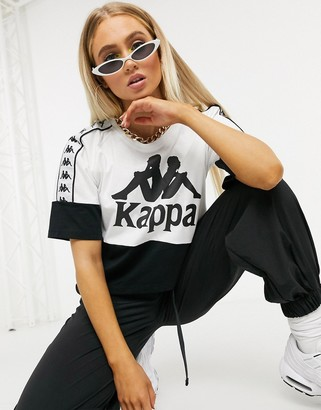 Kappa tee in black and white