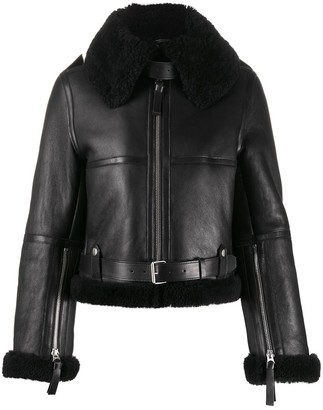 Acne Studios Shearling Leather Flight Jacket