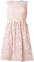 RED Valentino macramé flared dress - women - Silk/Cotton/Polyamide/Polyester - 40