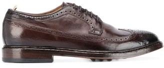 Officine Creative Airbrushed Leather Brogues