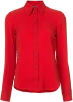 Derek Lam Long Sleeve Button-Down Shirt With Contrast Topstitch