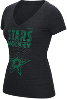 Reebok Women's Dallas Stars Block Rhinestone T-Shirt