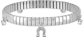 Nomination Stainless Steel Women's Bracelet w/Sterling Silver Charms and Cubic Zirconia