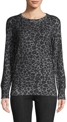 Equipment Rei Leopard-Print Cotton Cashmere Sweater