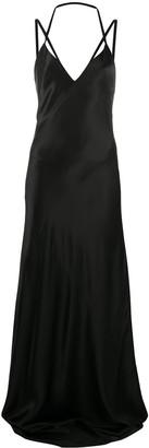 Haider Ackermann Crossover Strap Silk Gown