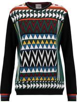Stella Jean Intarsia-Knit Wool-Blend Sweater