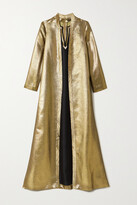 Thumbnail for your product : Reem Acra Bead-embellished Lame-jacquard Gown - Gold