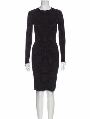 Alexander McQueen Printed Knee-Length Dress Purple