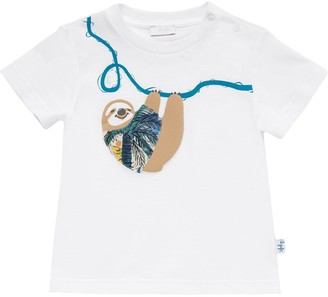 Il Gufo Sloth Printed Cotton Jersey T-Shirt