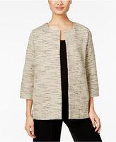 Eileen Fisher Cotton Open-Front Jacket