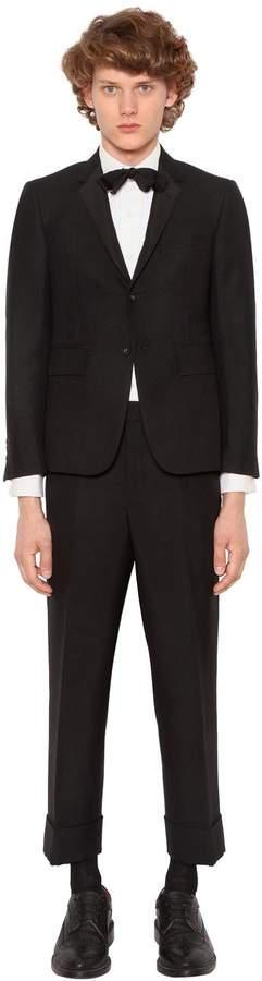 Thom Browne Classic Wool Blend Tuxedo Suit