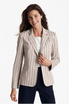 The striped cotton blazer