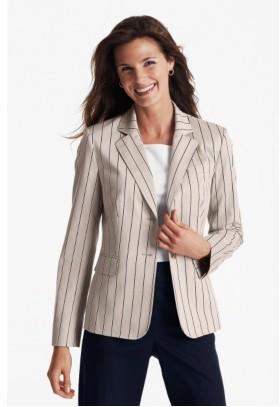 Talbots The striped cotton blazer