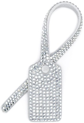 Off-White crystal embellished travel tag