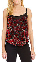 Band of Gypsies Burnout Floral Velvet Sleeveless Top
