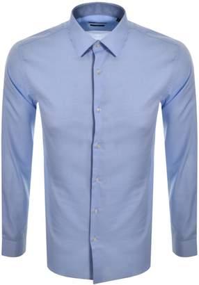 HUGO BOSS Boss Business Long Sleeved Isko Shirt Blue