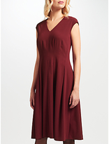 John Lewis Fit and Flare Dress, Wine