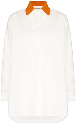 Plan C Contrast Collar Shirt