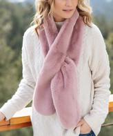 Donna Salyers' Fabulous Faux Furs Donna Salyers' Fabulous-Faux Furs Women's Cold Weather Scarves Mauve - Mauve Faux Fur Oversize Scarf - Women