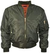 Noroze Girls Boys Kids Plain MA1 Zip Up Biker Bomber Jacket