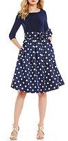 Jessica Howard Polka-Dot Party Dress
