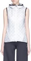Calvin Klein Illusion print mesh back sleeveless windbreaker jacket
