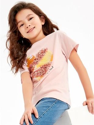 M&Co Sequin heart t-shirt (3-12yrs)