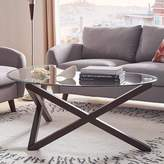 Homevance HomeVance Acama Contemporary Glass Top Coffee Table