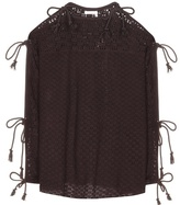 See by Chloe Knitted Open-shoulder Top