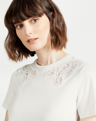 Ted Baker FFRANKY Lace inserted relaxed tee