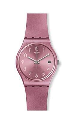 Swatch Womens Analogue Quartz Watch with Silicone Strap GP404