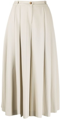 Michael Kors Collection Pleated High-Waisted Culottes