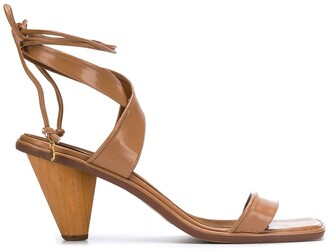 Stella McCartney Rhea crossover strap sandals