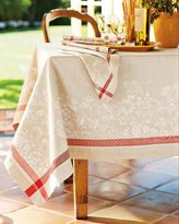 Farmer's Market Jacquard Tablecloths, Red/Khaki