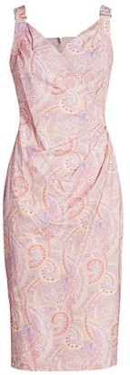 Max Mara Verusca Paisley Sheath Dress