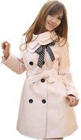 TRURENDI Womens Winter Double-breasted Coat Wool Blend Long Jacket Overcoat
