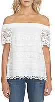 1 STATE Off-the-Shoulder Lace Blouse