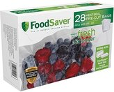 FoodSaver 28-Blocks Oxygen and Moisture, Pint-Size Heat-Seal Bags, Clear