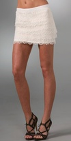 Tiered Lace Miniskirt