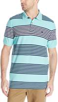 Izod Men's Short Sleeve Advantage Awning Stripe Polo