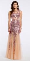 Jovani Sequin Floral Illusion Prom Dress