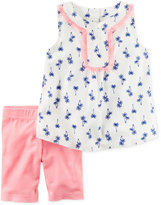 Carter's 2-Pc. Printed Fringe Tunic and Shorts Set, Toddler Girls (2T-4T)