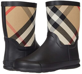 BURBERRY KIDS Rubber Boot (Toddler/Little Kid) (Beige) Kid's Shoes