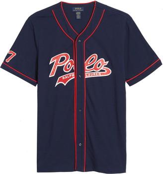 Polo Ralph Lauren Short Sleeve Baseball Pajama Top