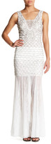 Sue Wong Beaded Lace Trim Dress