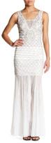Sue Wong Beaded Lace Trim Dress