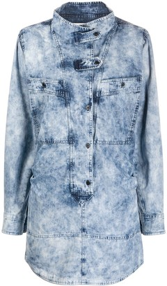 Etoile Isabel Marant button tab denim dress